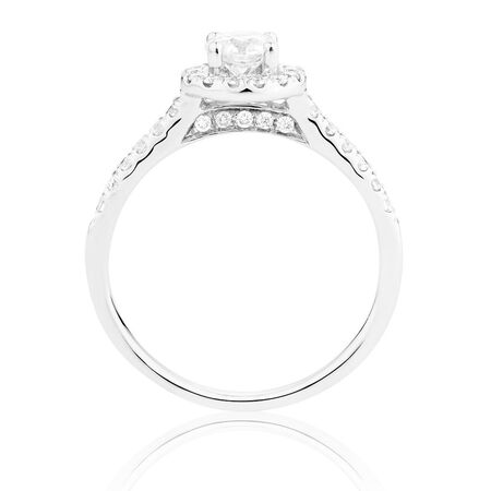 Diamond Ring with 0.78 Carat TW of Diamonds in 14ct White Gold