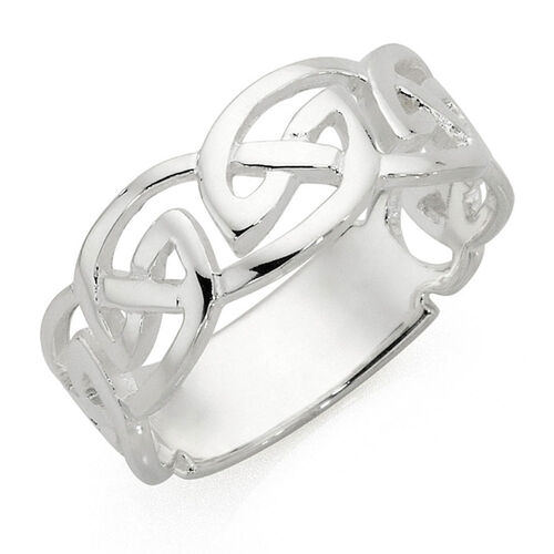 Men's Celtic Ring in Sterling Silver
