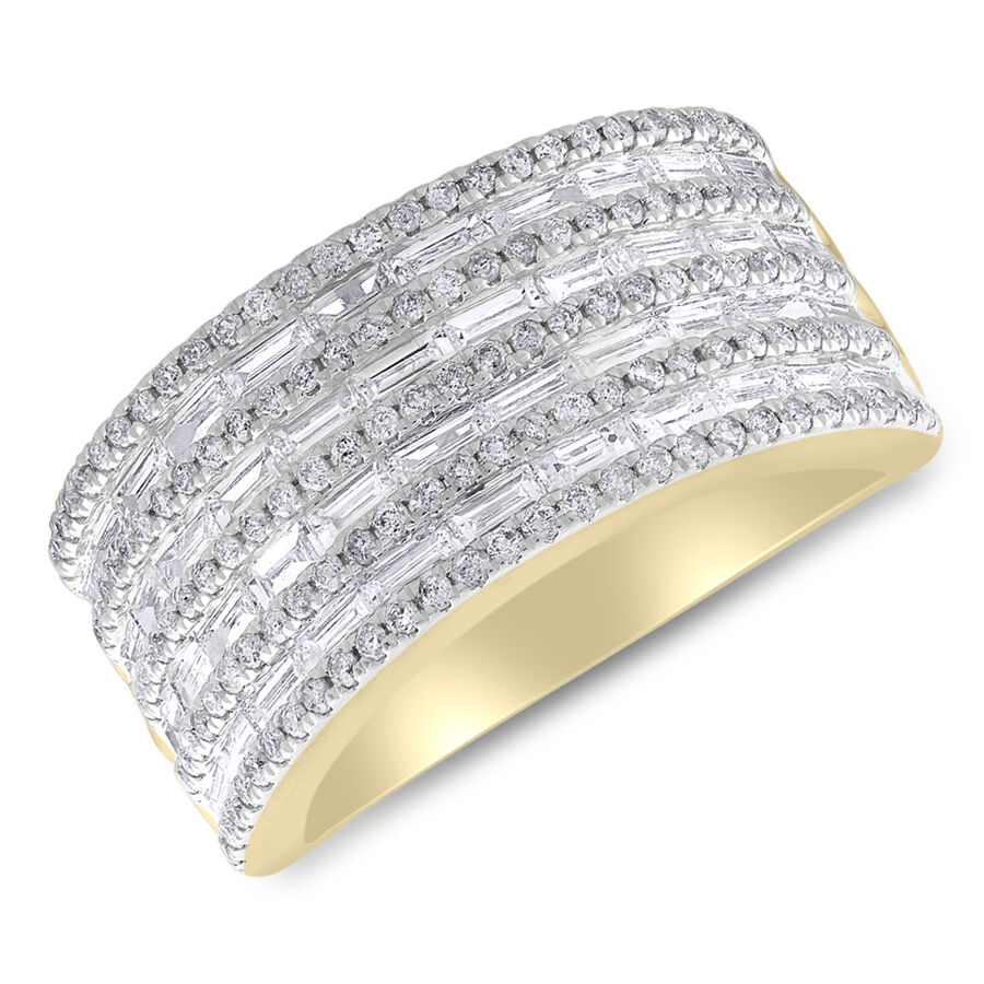 Ring with 1.50 Carat TW of Diamonds in 14ct Yellow Gold
