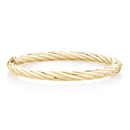 Twist Bangle in 10ct Yellow Gold