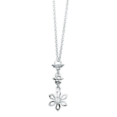 Sterling Silver Flower Pendulum Charm Pendant
