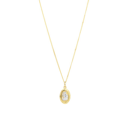 St Christopher Pendant in 10ct Yellow & White Gold