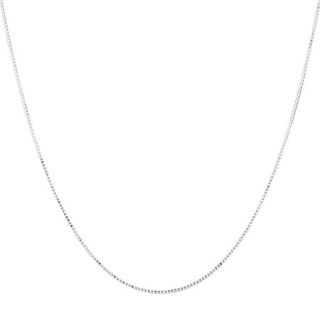 "40cm (16"") Box Chain in 10ct White Gold"