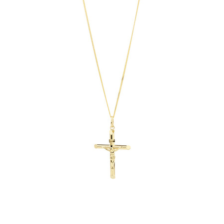 Crucifix Cross Pendant in 10ct Yellow Gold