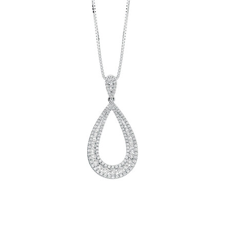 Pendant with 1 Carat TW of Diamonds in 14ct White Gold