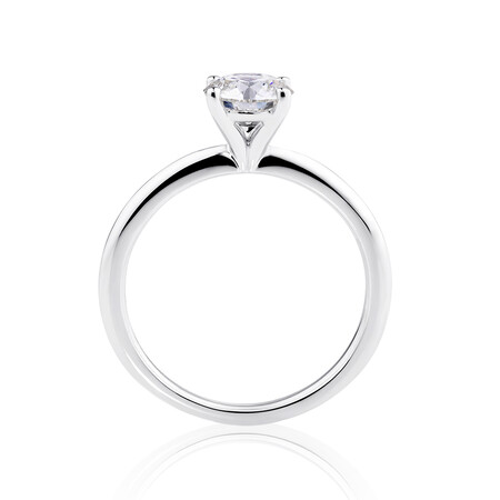 Laboratory-Created 1 Carat Diamond Ring in 14ct White Gold