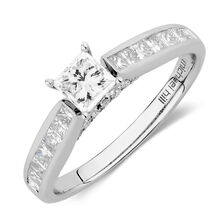 Online Exclusive - Engagement Ring with 1.15 Carat TW of Diamonds in 14ct White Gold