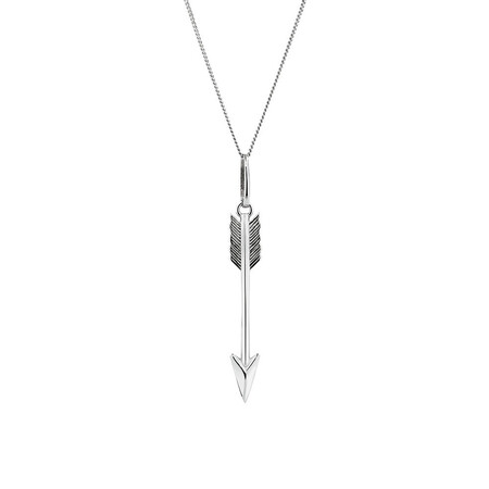 Arrow Pendant in Sterling Silver