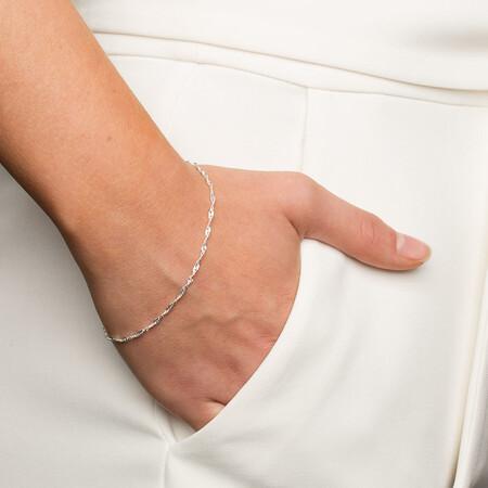 Singapore Bracelet in Sterling Silver
