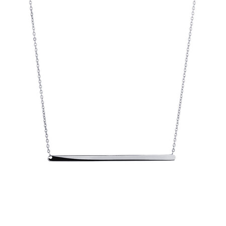 "45cm (18"") Bar Necklace in 10ct white Gold"