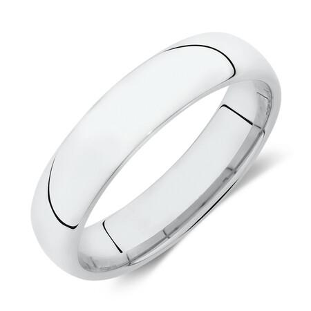 Lite Half Round Wedding Band in 10ct White Gold