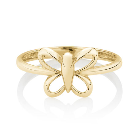 Butterfly Ring in 10ct Yellow Gold