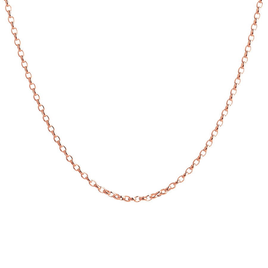 "55cm (22"") Hollow Belcher Chain in 10ct Rose Gold"