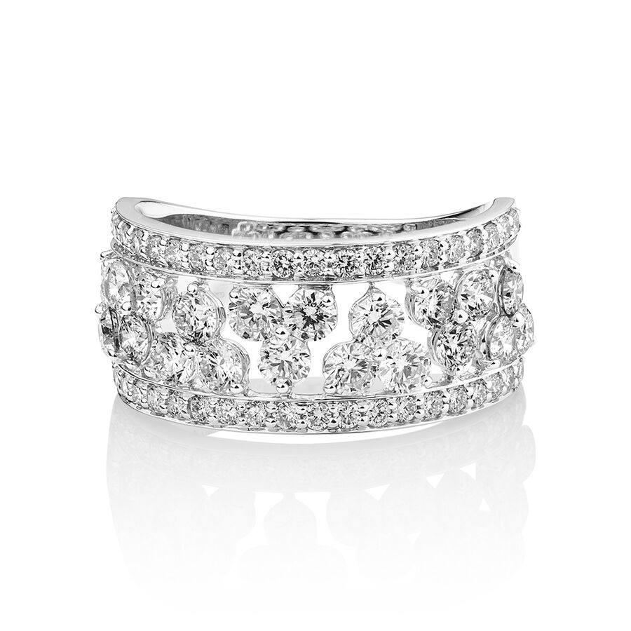 Laboratory-Created 2 Carat Diamond Ring in 10ct White Gold