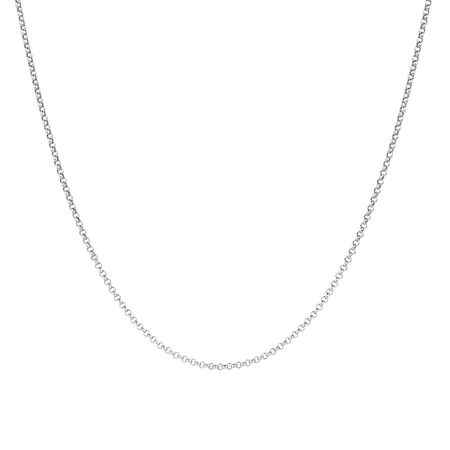 "80cm (32"") Hollow Belcher Chain in 10ct White Gold"