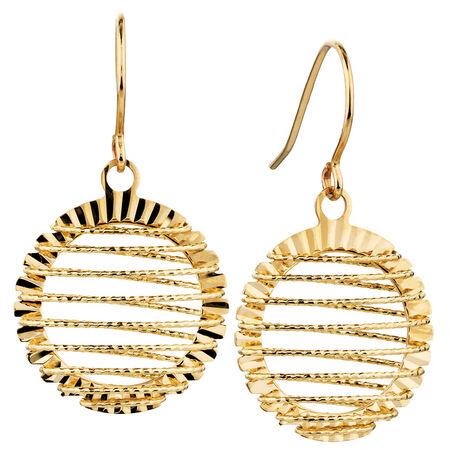 Hook Earrings in 10ct Yellow Gold