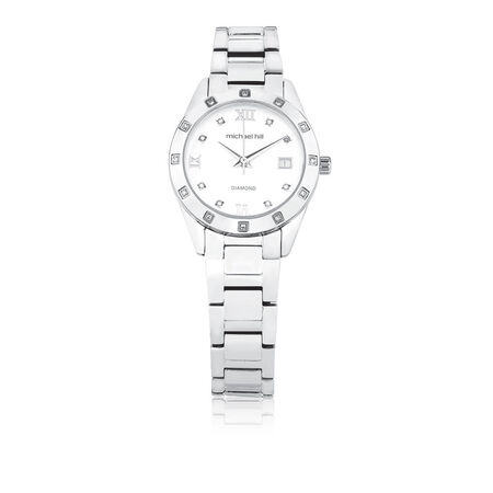 Ladies Watch with Diamonds in Stainless Steel  | Tuggl