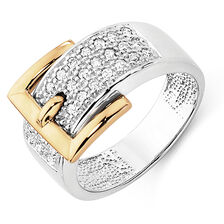 Online Exclusive - Ring with 0.33 Carat TW of Diamonds in 10ct Yellow & White Gold