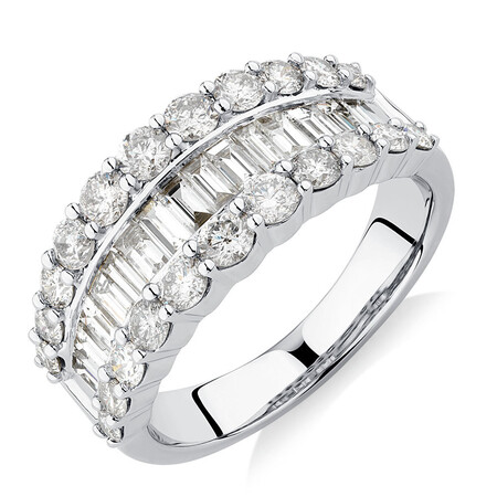 Ring with 2 Carat TW of Diamonds in 14ct White Gold