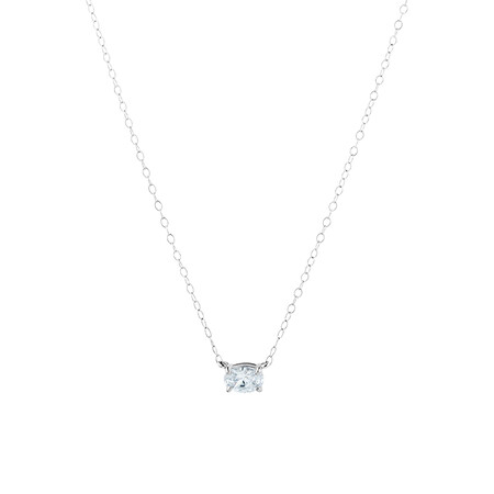 Cubic Zirconia Pendant in Sterling Silver