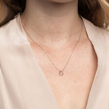 Pear Pendant With a Diamond In 10ct White Gold