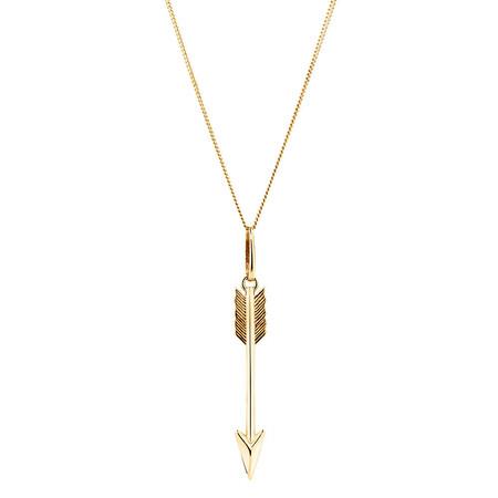 Arrow Pendant in 10ct Yellow Gold