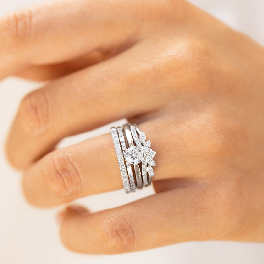 Evermore Wedding Band with 0.20 Carat TW of Diamonds in 10ct White Gold