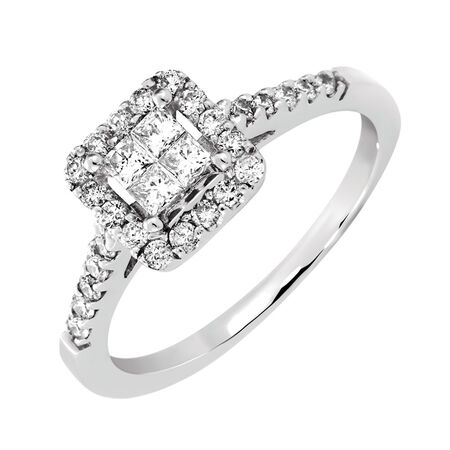 Online Exclusive - Engagement Ring with 1/2 Carat TW of Diamonds in 14ct White Gold