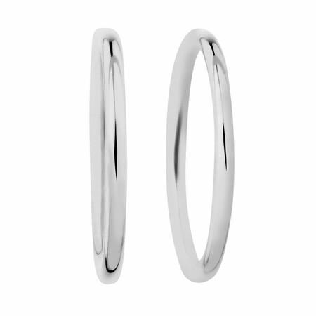 14mm Sleeper Earrings in Sterling Silver