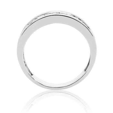 Men's Ring with 1 Carat TW of Diamonds in 14ct White Gold