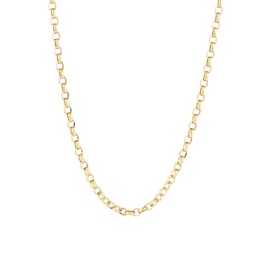 "45cm (18"") Diamond Cut Belcher Chain in 18ct Yellow Gold"
