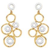 Online Exclusive - Drop Earrings with 0.30 Carat TW of Diamonds in 10ct Yellow Gold