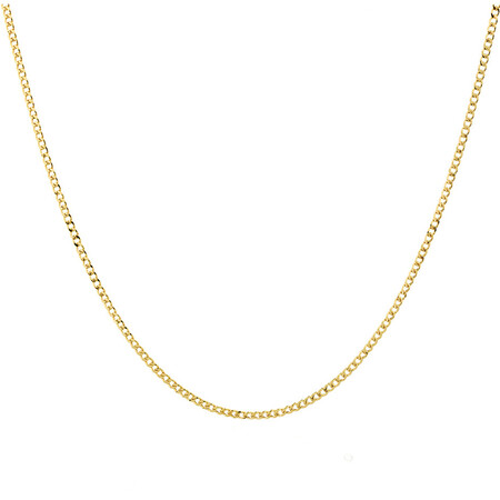 """60cm (24"""") Hollow Curb Chain in 10ct Yellow Gold"""