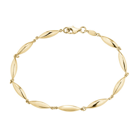Beaded Bracelet in 10ct Yellow Gold