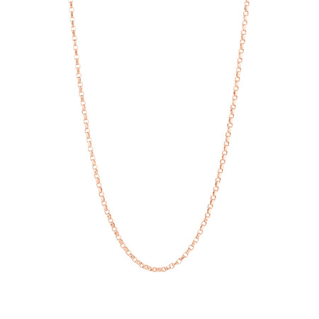 "45cm (18"") Belcher Chain in 10ct Rose Gold"