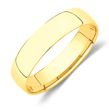 Lite Half Round Wedding Band in 10ct Yellow Gold