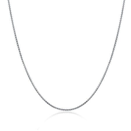 "45cm (18"") Wheat Chain in 10ct White Gold"