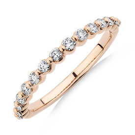 Evermore Wedding Band with 0.34 Carat TW of Diamonds in 10ct Rose Gold