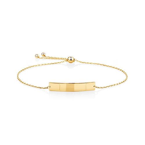 Adjustable Bracelet in 10ct Yellow Gold