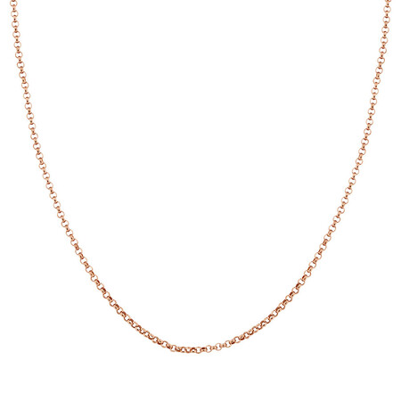 "45cm (18"") Hollow Belcher Chain in 10ct Rose Gold"