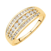 Ring with 0.50 TW of Diamonds in 10ct Yellow Gold