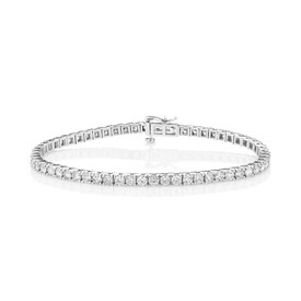 Tennis Bracelet with 5 Carat TW of Diamonds in 10ct White Gold