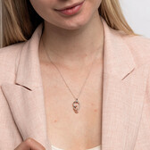 Small Knots Pendant with 0.13 Carat TW of Diamonds in Sterling Silver & 10ct Rose Gold