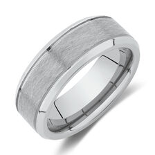 8mm Ring in Grey Tungsten