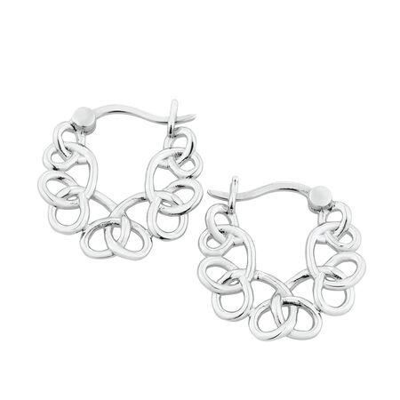 Fancy Loop Hoop Earrings in Sterling Silver