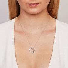 Online Exclusive - Heart Pendant with a 1/4 Carat TW of Diamonds in 10ct White Gold