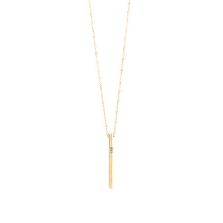 Vertical Bar Pendant with Diamonds in 10ct Yellow Gold