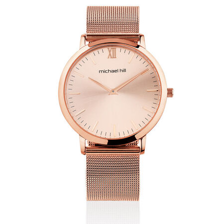 Ladies Mesh Bracelet Watch in Stainless Steel