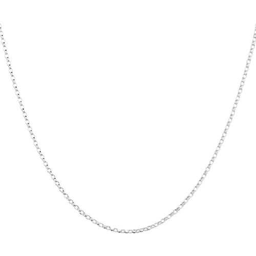 "45cm (18"") Hollow Belcher Chain in 10ct White Gold"