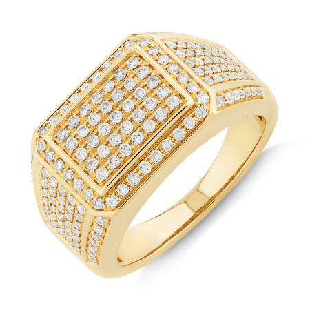 Men's Ring with 2 Carat TW of Diamonds In 10ct Yellow Gold